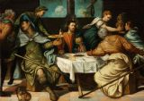 Tintoretto, Jacopo Robusti: The Supper at Emmaus. Religious/Biblical Fine Art Print/Poster. Sizes: A4/A3/A2/A1 (002000)